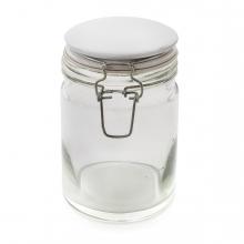 Imagen en la que se ve un bote de cristal con cierre