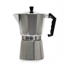 Imagen en la que se ve una cafetera metálica estilo italiana