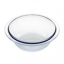 Imagen en la que se ve una ensaladera de cristal transparente