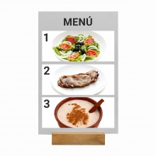 Imagen en la que se ve un menú