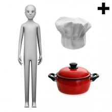 Imagen en la que se ve el plural del concepto cocinero