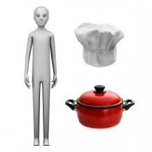 Imagen en la que se ve el concepto de cocinero