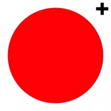 Imagen en la que se ve un círculo de color rojo