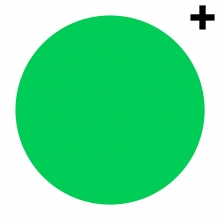 Imagen en la que se ve un círculo de color verde