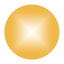 Imagen en la que se ve un círculo de color dorado