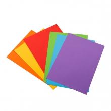 Imagen en la que aparece una serie de cartulinas de colores