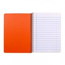 Imagen en la que aparece un cuaderno de rayas abierto