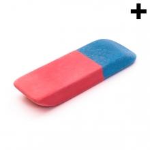 Imagen en la que aparece el plural del concepto goma de borrar