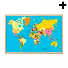 Imagen en la que se ve el plural del concepto mapamundi