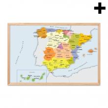 Imagen en la que se ve el plural del concepto mapa de España