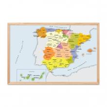 Imagen en la que se ve un mapa de España