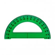 Imagen en la que se ve una regla semicírculo