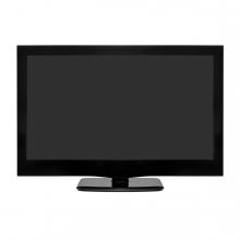 Imagen en la que se ve una televisión de pantalla plana en perspectiva frontal