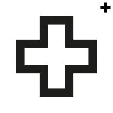 Imagen en la que se ve el plural del concepto cruz con el trazo en color negro