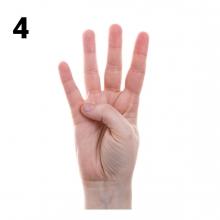 Imagen en la que se representa el número cuatro