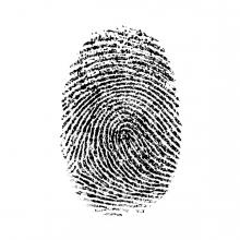 Imagen en la que se ve una huella dactilar