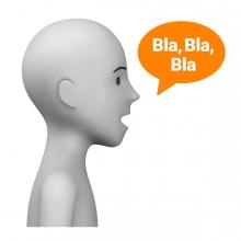 Imagen del verbo decir