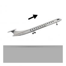 Imagen en la que se ve un avión despegando