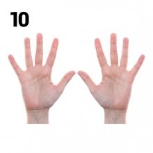 Imagen en la que se representa el número diez