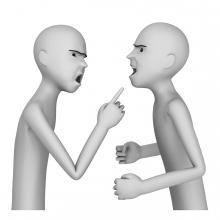 Imagen del verbo discutir