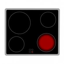 Imagen en la que se ve una vitrocerámica