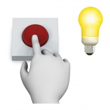 Imagen en la que se ve el concepto encender la luz con pulsador