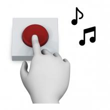 Imagen en la que se ve el concepto encender la música con pulsador