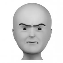 Persona enfadada