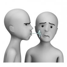 Imagen del verbo escupir