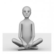 Imagen del verbo estar sentado