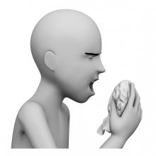 Imagen en la que aparece una persona estornudando