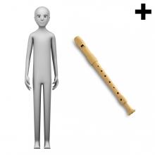 Imagen en la que se ve el plural del concepto flautista