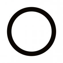 Imagen en la que se ve un círculo con el trazo en color negro