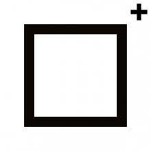 Imagen en la que se ve un cuadrado con el trazo en color negro