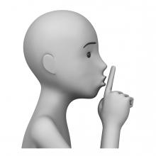 Imagen del verbo silenciar