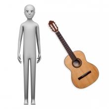 Imagen en la que se ve el concepto de guitarrista