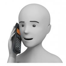 Imagen de una persona hablando por teléfono