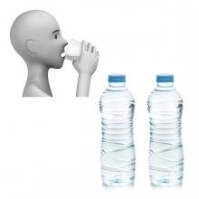 Imagen en la que se ve el concepto de hidratarse