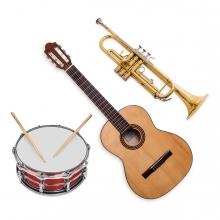 Imagen en la que aparece el concepto genérico de instrumentos musicales