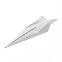 Imagen en la que se ve un avión de papel