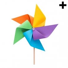 Imagen en la que se ve el plural del concepto molinillo de viento