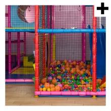 Imagen en la que se ve el plural del concepto parque de bolas