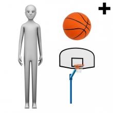 Imagen en la que se ve el plural del concepto jugador o jugadora de baloncesto
