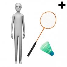 Imagen en la que se ve el plural del concepto jugador de bádminton