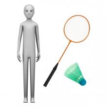 Imagen en la que se ve el concepto jugador de bádminton