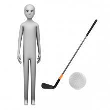 Imagen en la que se ve el concepto jugador de golf
