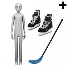 Imagen en la que se ve el plural del concepto jugador de hockey hielo