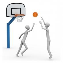 Imagen del verbo jugar al baloncesto