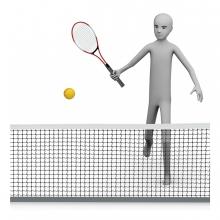 Imagen del concepto jugar al tenis