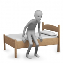 Imagen del verbo levantarse de la cama